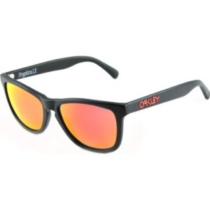 Oakley Global Frogskin LX Sunglasses in Matte Black Ruby Iridium - OO2043 02 56 OO2043 02 56 56 Ruby Iridium