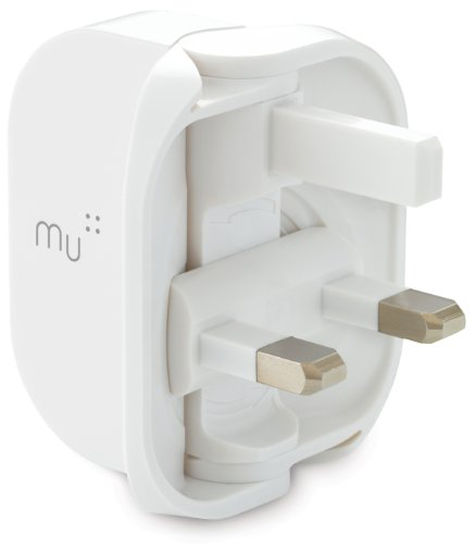 Made In Mind Mu 1 Amp Universal USB Smartphone Folding UK Mains Charger Plug - White