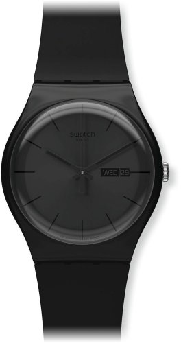Swatch Gents Black Rebel Watch SUOB702