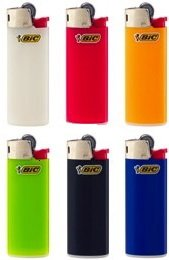 6 Mini BIC Lighters - all different colours