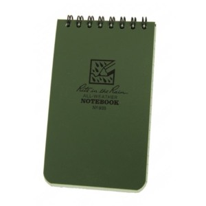 Rite in the Rain All-Weather Notebook, green, 3x5 inches
