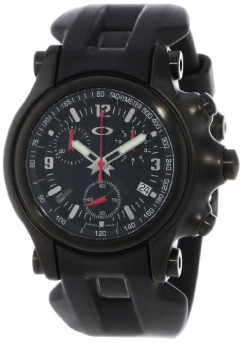 Oakley Holeshot Unobtanium Strap Mens Watch In Stealth / Black Dial / Black Strap 10-228.
