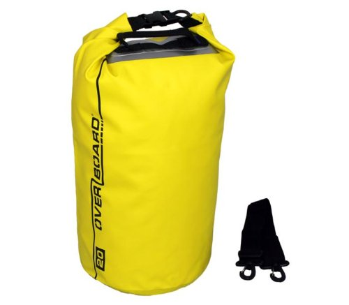 Overboard Waterproof Dry Tube Bag with Window - Yellow, 20 Litres