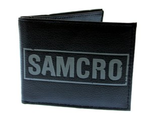 Sons of Anarchy SAMCRO Black Bifold Wallet