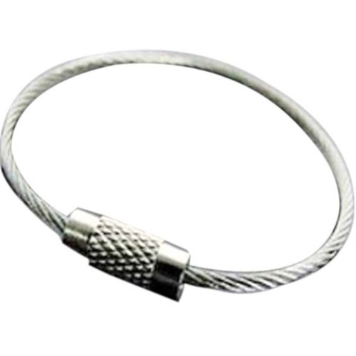 Vktech Pack of 20 Stainless Steel 15cm Wire Keychain Cable Key Ring for Outdoor Hiking