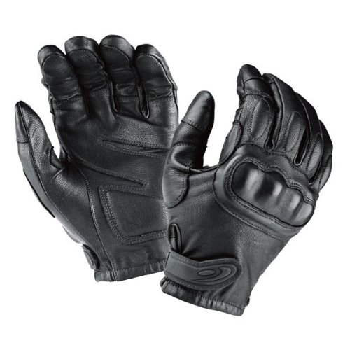 Tactical leather gloves black