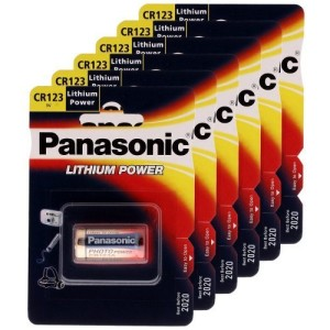 Panasonic Photo Lithium Battery - CR123A - 6 PACK SPECIAL