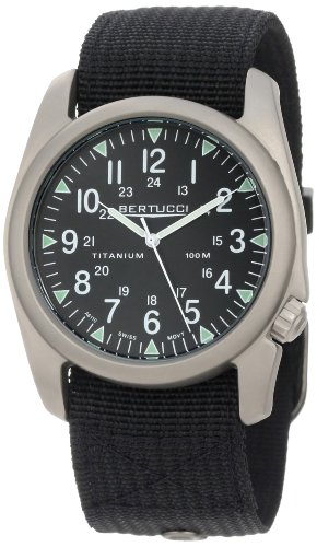 Bertucci A-4T Vintage 44 Titanium Watch with Black Nylon Strap 13406