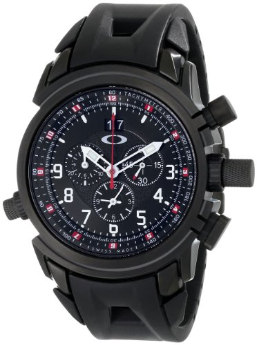 Oakley Men's 10-061 12 Gauge Chronograph Stealth Black Watch