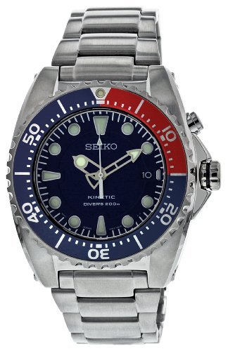 Gents Seiko Kinetic Stainless Steel Divers 200M Water Resistant Watch on Bracelet, with Date. Ref SKA369P1