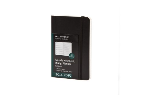 2015 Moleskine Pocket Weekly Notebook 18 Months Soft