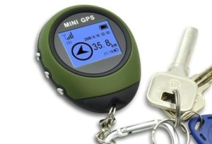 ChannelGoods Portable Mini GPS with Keychain for Outdoor Sport Navigation Tracker Location Finder