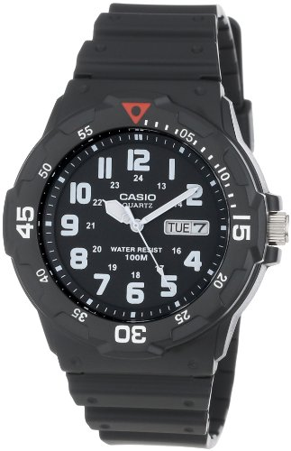 Casio Men's MRW200H-1BV Black Resin Quartz Watch with Black Dial