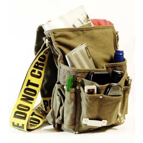 Ducti 'Police Line Do Not Cross' Canvas Utility Messenger Bag