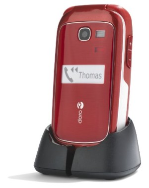 Doro Phone Easy 615 GSM Sim Free Mobile Phone - Red
