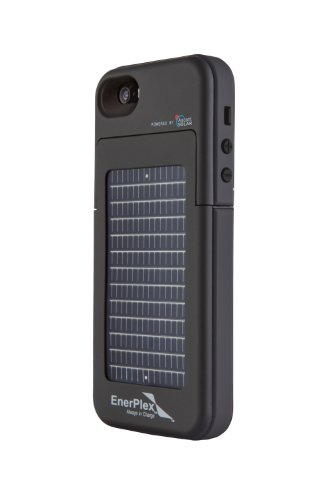 EnerPlex Surfr 2000mAh Battery Case with Emergency Solar Charger for iPhone 5/5S - Black