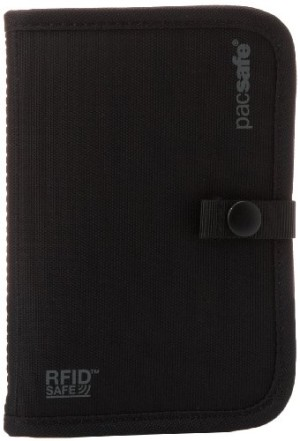 Pacsafe RFID -Tec 75 Blocking Passport Holder - Black