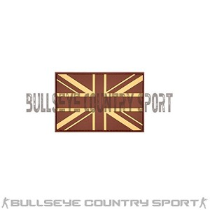 RUBBER SUBDUED UNION JACK RUBBER PATCH DESERT MORAL PATCH