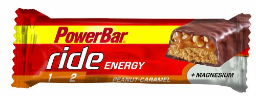 Powerbar Ride Bar Peanut Caramel Bars - Pack of 18 Bars
