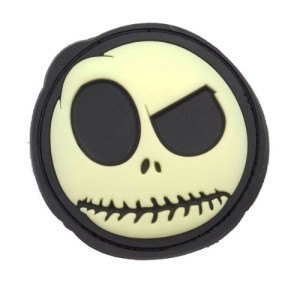 BIG NIGHTMARE RUBBER PATCH GLOW IN THE DARK SMILEY FACE AIRSOFT PATCH