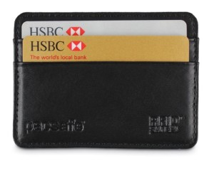 Pacsafe RFID Executive 25 Blocking Credit Card Holder - Black