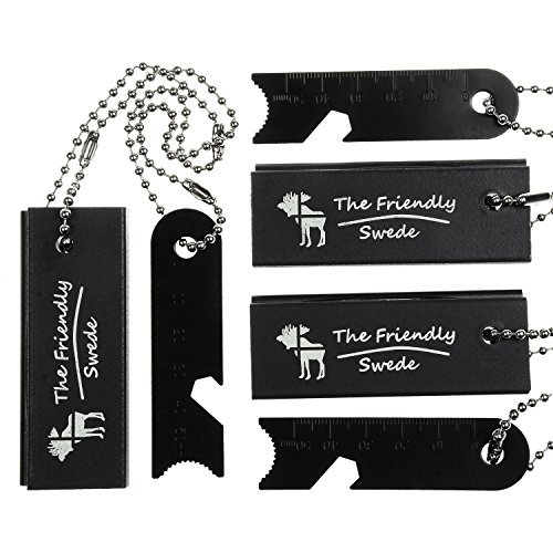 [3 PACK] Magnesium Fire Starter - with Extra Long Chains and New and Improved Strikers - Lightweight and Pocket Size - for Hiking and Other Outdoor Activities - A Must Have for the Survivalist Prepper - EDC Emergency Survival Essentials - Lifetime Warranty by The Friendly Swede