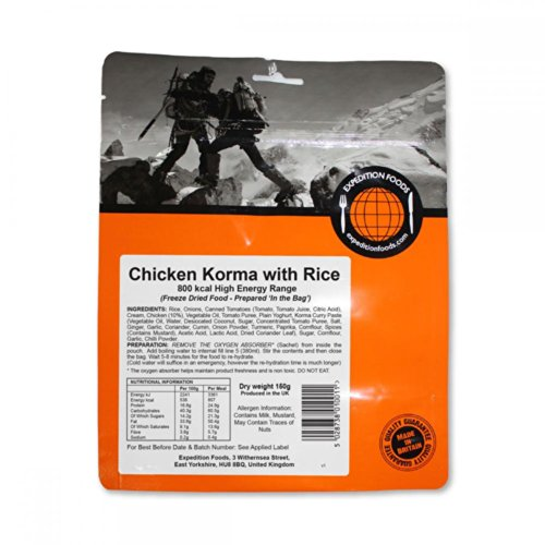 Expedition Foods Chicken Korma with Rice (High Energy Serving)