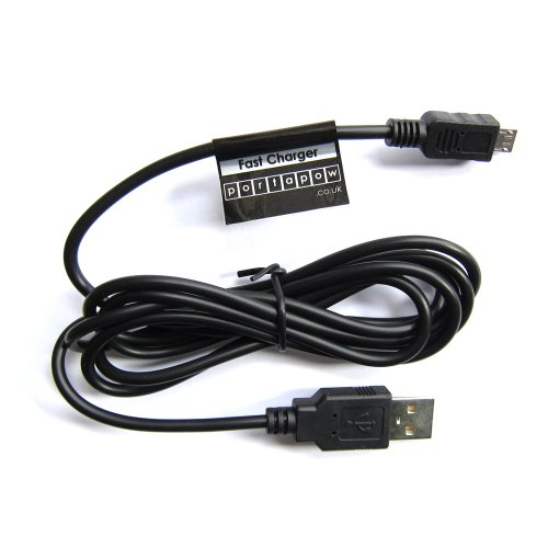 PortaPow Specialised Fast Charging Micro USB Cable for Blackberry, Xperia, HTC One, Google Nexus, Other Fast Charging Devices