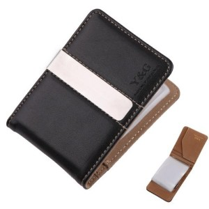 YCC1002 Brown Black Mens Wallet Excellent Fantastic Money Clip 15 Card Holder Xmas Present Suppliers Presents Idea By Y&G