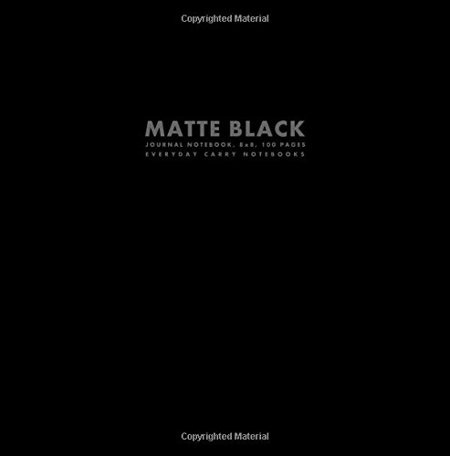 Matte Black Journal Notebook, 8x8, 100 Pages (Big Square Sized Notebooks)