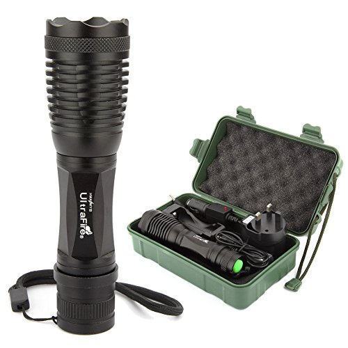 2200 LM CREE XM-L T6 LED Zoomable Zoom 5 Modes Flashlight Torch Lamp LED torch +18650 Battery & 2 chargers