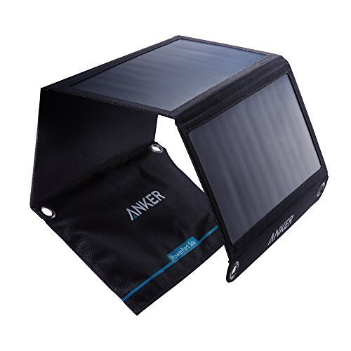 Anker PowerPort Solar (21W 2-Port USB Solar Charger) for iPhone 6 / 6 Plus, iPad Air 2 / mini 3, Galaxy S6 / S6 Edge and More