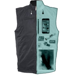 AyeGear V26 Vest with 26 Pockets, Dual Pockets for iPad or Tablets, Earphone Routing System, Weatherproof, Concealed Carry Clothing, No Bulge, Lightweight Gilet, Black XL
