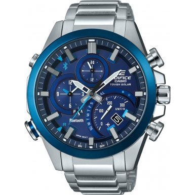 Mens Casio Edifice Time Traveller Bluetooth Alarm Chronograph Watch EQB-500DB-2AER