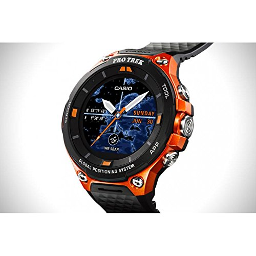 Casio Pro Trek wsd-f20-rgbae Quartz Watch (Rechargeable) quandrante Steel Black Polycarbonate Strap